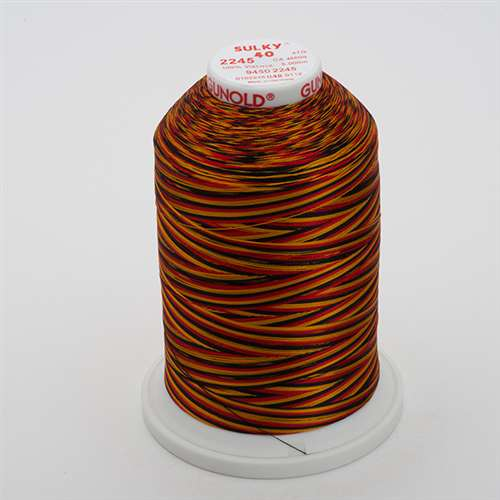 Sulky 40 wt 5500 Yard Rayon Thread - 940-2245 - Old Gold/Black/Red