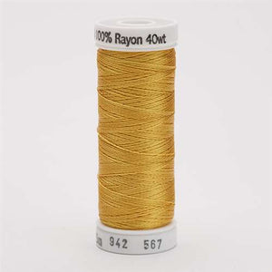 Sulky 40 wt 250 Yard Rayon Thread - 942-0567 - Butterfly Gold