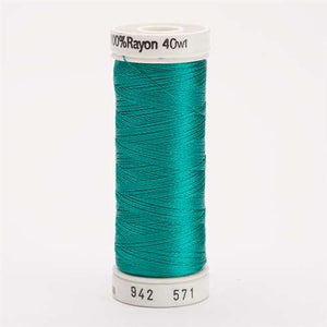 Sulky 40 wt 250 Yard Rayon Thread - 942-0571 - Deep Aqua