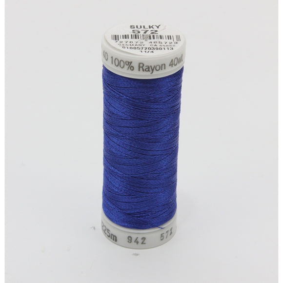 Sulky 40 wt 250 Yard Rayon Thread - 942-0572 - Blue Ribbon