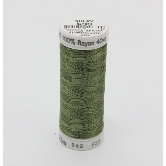 Sulky 40 wt 250 Yard Rayon Thread - 942-0630 - Moss Green