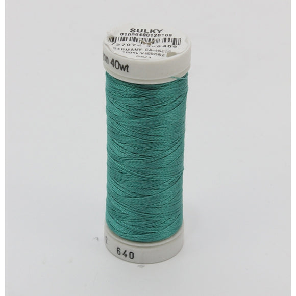Sulky 40 wt 250 Yard Rayon Thread - 942-0640 - Medium Aqua