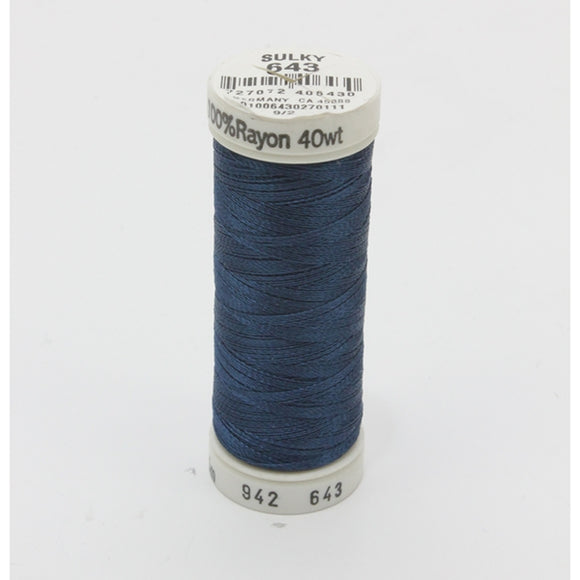 Sulky 40 wt 250 Yard Rayon Thread - 942-0643 - Artic Sky