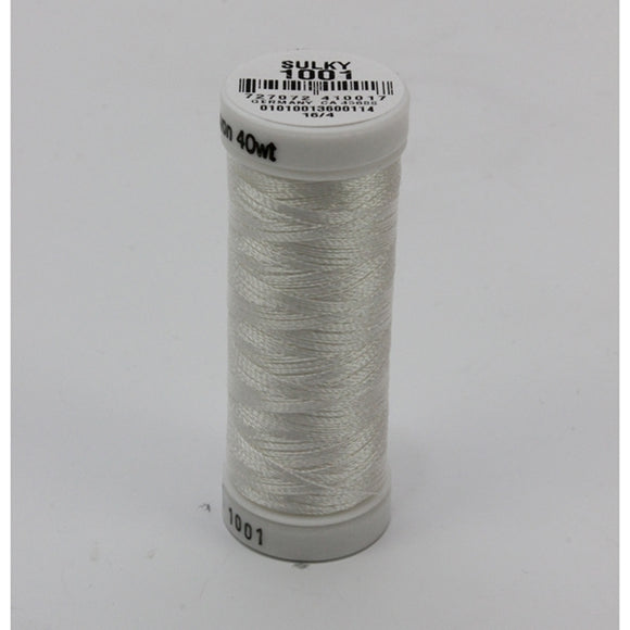 Sulky 40 wt 250 Yard Rayon Thread - 942-1001 - Bright White