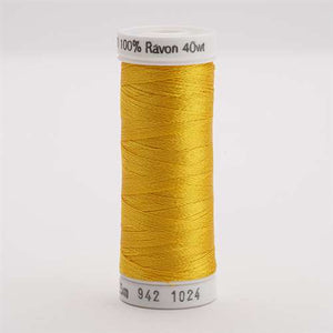 Sulky 40 wt 250 Yard Rayon Thread - 942-1024 - Goldenrod