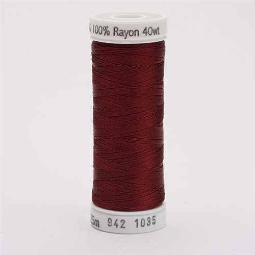 Sulky 40 wt 250 Yard Rayon Thread - 942-1035 - ark Burgundy