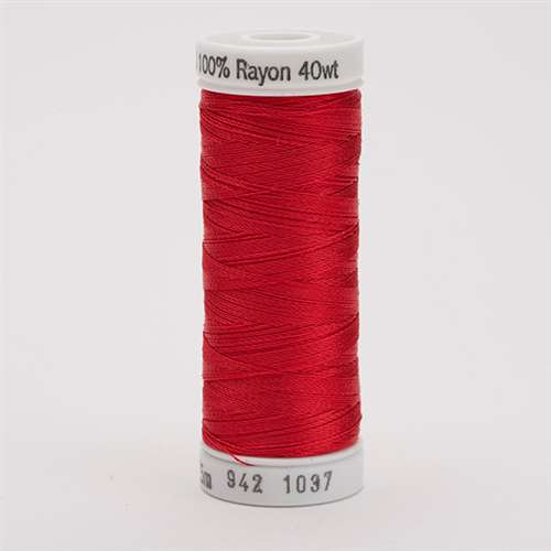 Sulky 40 wt 250 Yard Rayon Thread - 942-1037 - t Red
