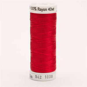 Sulky 40 wt 250 Yard Rayon Thread - 942-1039 - True Red