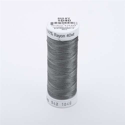 Sulky 40 wt 250 Yard Rayon Thread - 942-1040 - edium Dark Khaki