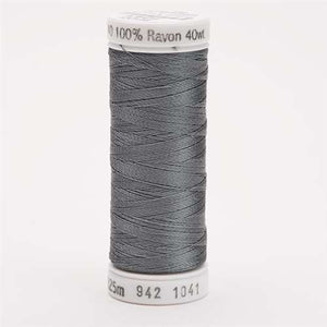 Sulky 40 wt 250 Yard Rayon Thread - 942-1041 - Medium Dark Grey