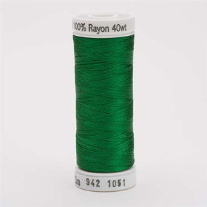 Sulky 40 wt 250 Yard Rayon Thread - 942-1051 - Xmas Green