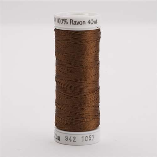 Sulky 40 wt 250 Yard Rayon Thread - 942-1057 - Dark Tawny tan