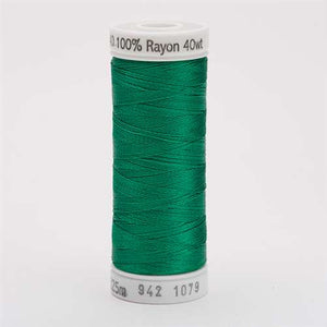 Sulky 40 wt 250 Yard Rayon Thread - 942-1079 - Emerald Green