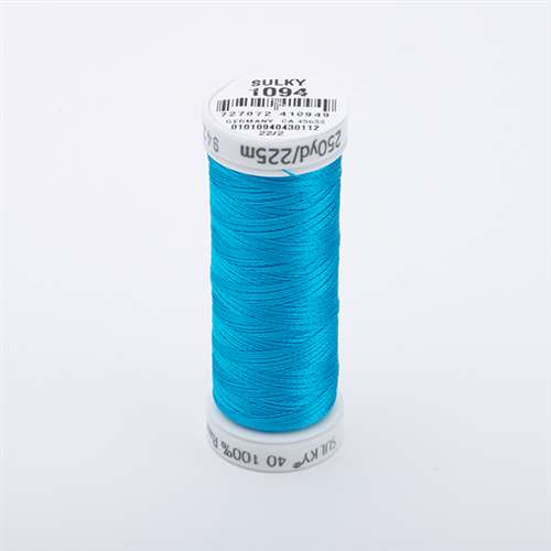 Sulky 40 wt 250 Yard Rayon Thread - 942-1094 - Medium Turquoise