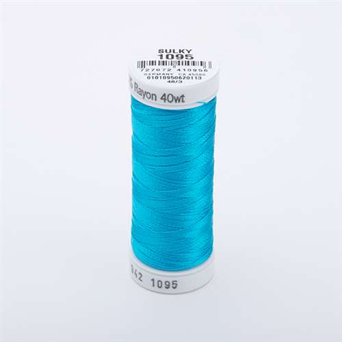 Sulky 40 wt 250 Yard Rayon Thread - 942-1095 - Turquoise