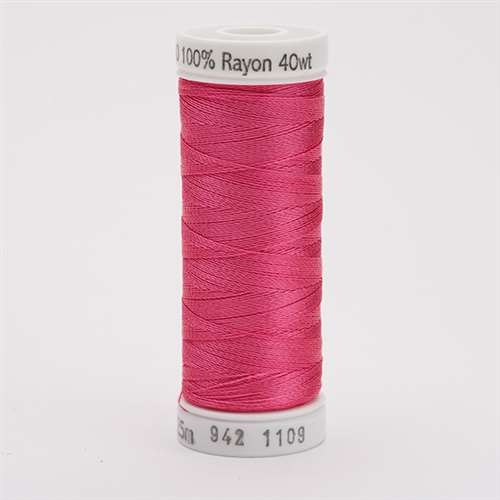 Sulky 40 wt 250 Yard Rayon Thread - 942-1109 - Hot Pink