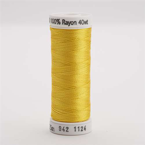 Sulky 40 wt 250 Yard Rayon Thread - 942-1124 - Sun Yellow