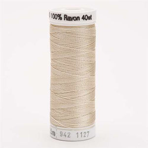Sulky 40 wt 250 Yard Rayon Thread - 942-1127 - Medium Ecru