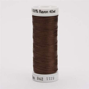 Sulky 40 wt 250 Yard Rayon Thread - 942-1129 - Brown