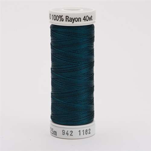 Sulky 40 wt 250 Yard Rayon Thread - 942-1162 - Deep Teal