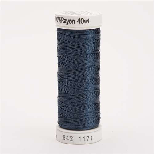 Sulky 40 wt 250 Yard Rayon Thread - 942-1171 - Weathered Blue