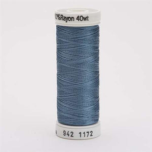 Sulky 40 wt 250 Yard Rayon Thread - 942-1172 - Med Weathered Blue