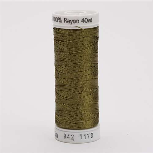 Sulky 40 wt 250 Yard Rayon Thread - 942-1173 - Med Army Green