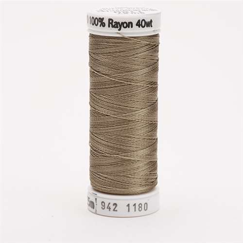 Sulky 40 wt 250 Yard Rayon Thread - 942-1180 - Med Taupe