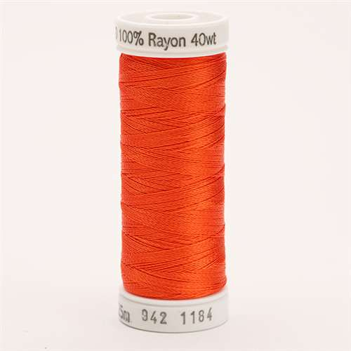 Sulky 40 wt 250 Yard Rayon Thread - 942-1184 - Orange Red