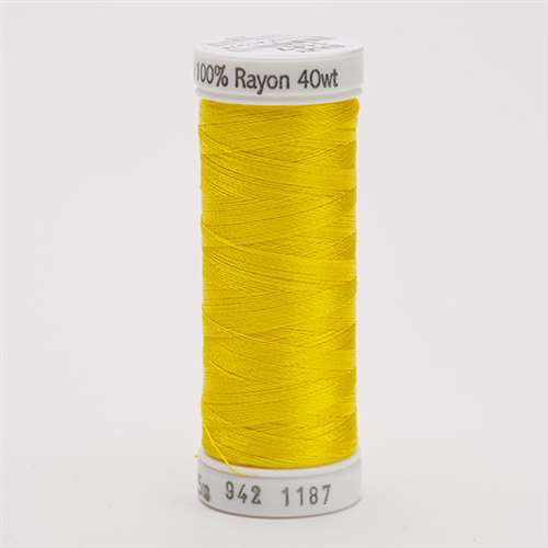 Sulky 40 wt 250 Yard Rayon Thread - 942-1187 - Mimosa Yellow