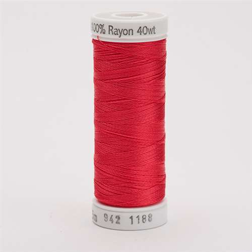 Sulky 40 wt 250 Yard Rayon Thread - 942-1188 - Red Geranium