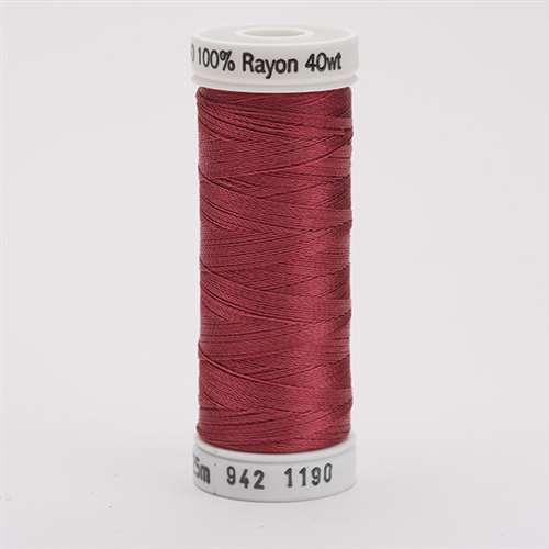 Sulky 40 wt 250 Yard Rayon Thread - 942-1190 - Med. Burgundy