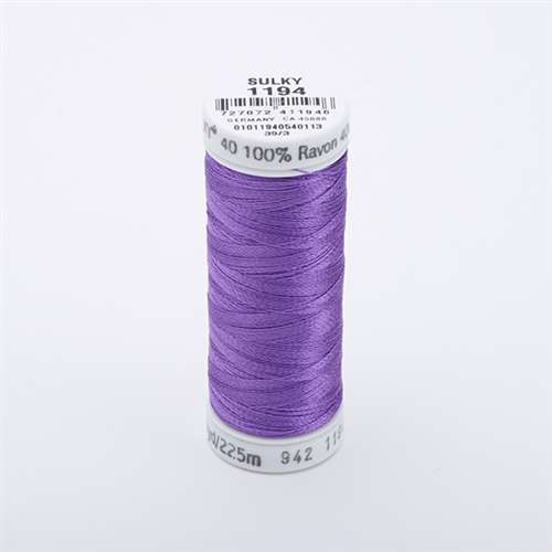 Sulky 40 wt 250 Yard Rayon Thread - 942-1194 - Lt Purple