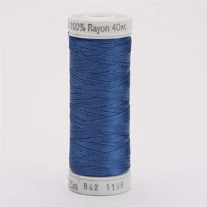 Sulky 40 wt 250 Yard Rayon Thread - 942-1198 - Dusty Navy