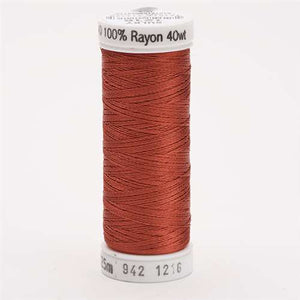 Sulky 40 wt 250 Yard Rayon Thread - 942-1216 - Med Maple