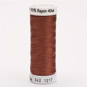 Sulky 40 wt 250 Yard Rayon Thread - 942-1217 - Chestnut
