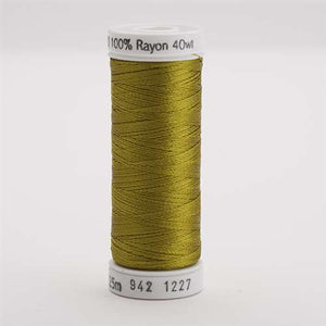 Sulky 40 wt 250 Yard Rayon Thread - 942-1227 - Gold Green