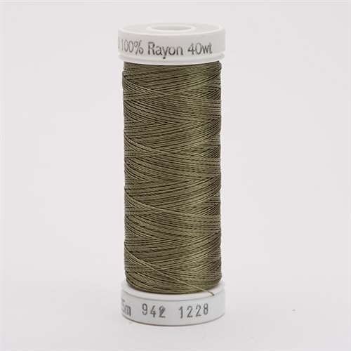 Sulky 40 wt 250 Yard Rayon Thread - 942-1228 - Drab Green
