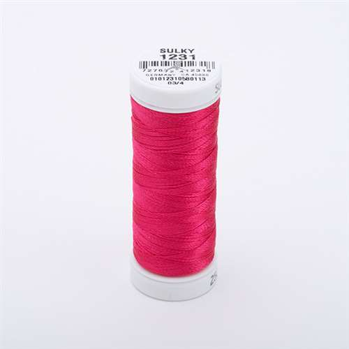 Sulky 40 wt 250 Yard Rayon Thread - 942-1231 - Med Rose