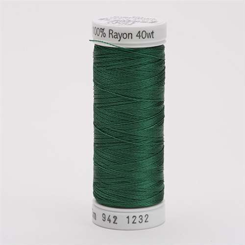 Sulky 40 wt 250 Yard Rayon Thread - 942-1232 - Classic Green