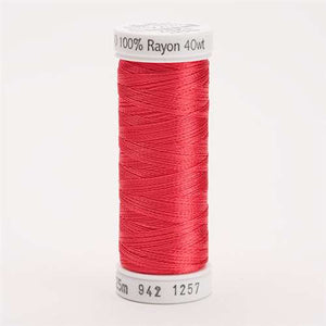 Sulky 40 wt 250 Yard Rayon Thread - 942-1257 - Deep Coral