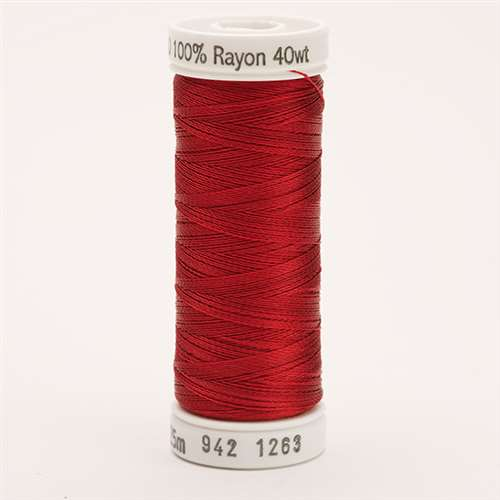 Sulky 40 wt 250 Yard Rayon Thread - 942-1263 - 40wt Red Jubilee