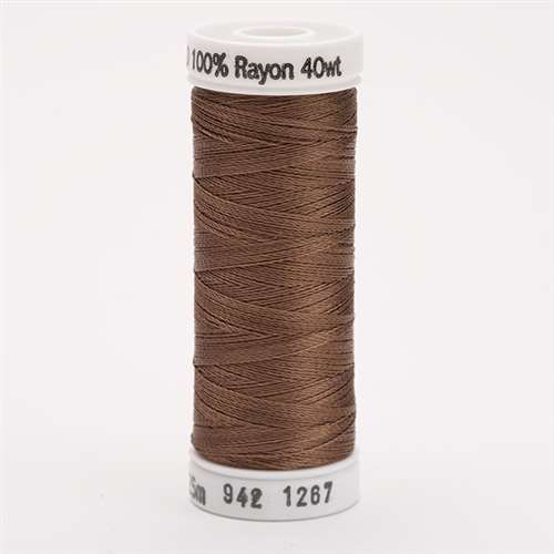 Sulky 40 wt 250 Yard Rayon Thread - 942-1267 - Mink Brown