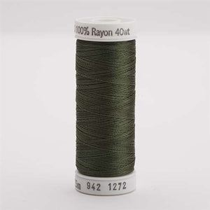 Sulky 40 wt 250 Yard Rayon Thread - 942-1272 - Hedge Green