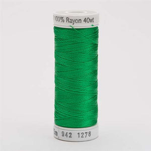 Sulky 40 wt 250 Yard Rayon Thread - 942-1278 - Bright Green