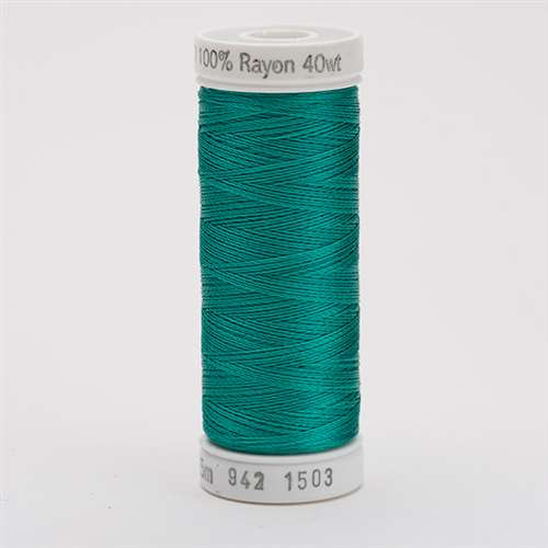 Sulky 40 wt 250 Yard Rayon Thread - 942-1503 - Green Peacock
