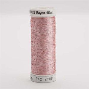 Sulky 40 wt 250 Yard Rayon Thread - 942-2100 - Past/Pink Var