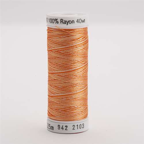 Sulky 40 wt 250 Yard Rayon Thread - 942-2103 - Oranges Var.