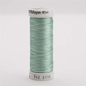 Sulky 40 wt 250 Yard Rayon Thread - 942-2110 - True Greens Var