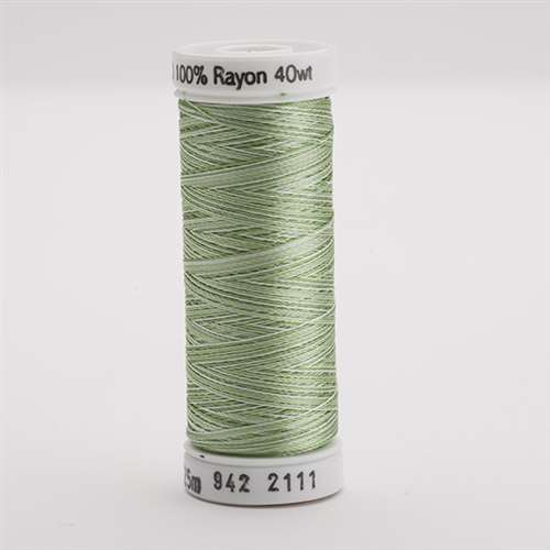 Sulky 40 wt 250 Yard Rayon Thread - 942-2111 - Grass Gr. Var